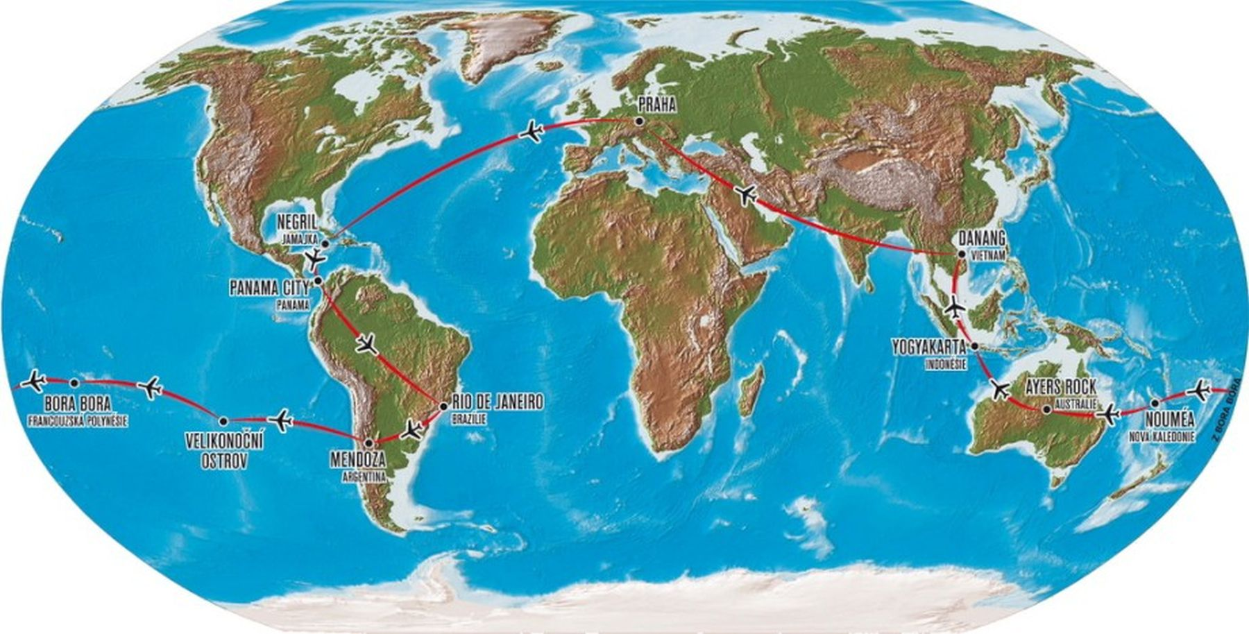 Bora Bora Mapa Sveta Superjoden
